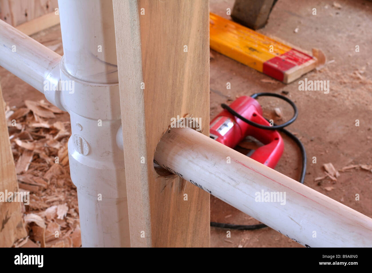 Rough plumbing in new home construction Stock Photo: 22968652 - Alamy