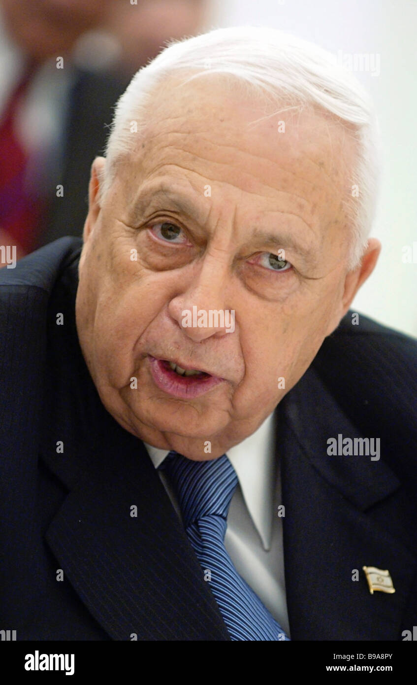 Israeli Prime Minister Ariel Sharon during a working visit to Moscow - Stock Image