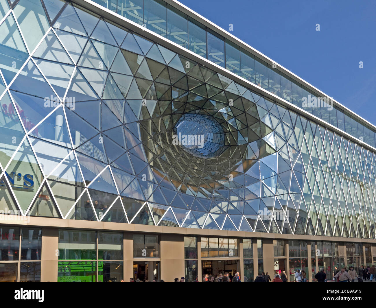 MyZeil is a hugest building projected of the italian architect Massimiliano Fuskas with 8 floors and 77 000 square - Stock Image