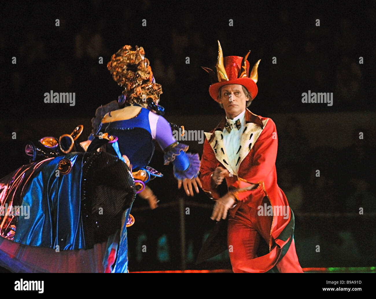 Igor Bobrin European champion in men s singles as King in a scene from the Cinderella production of the Ice Miniature - Stock Image