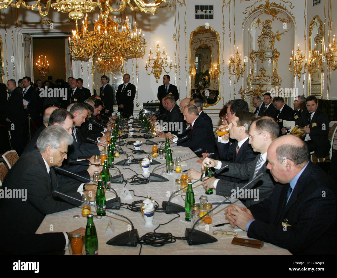 Enlarged attendance Russo Czech negotiations Stock Photo