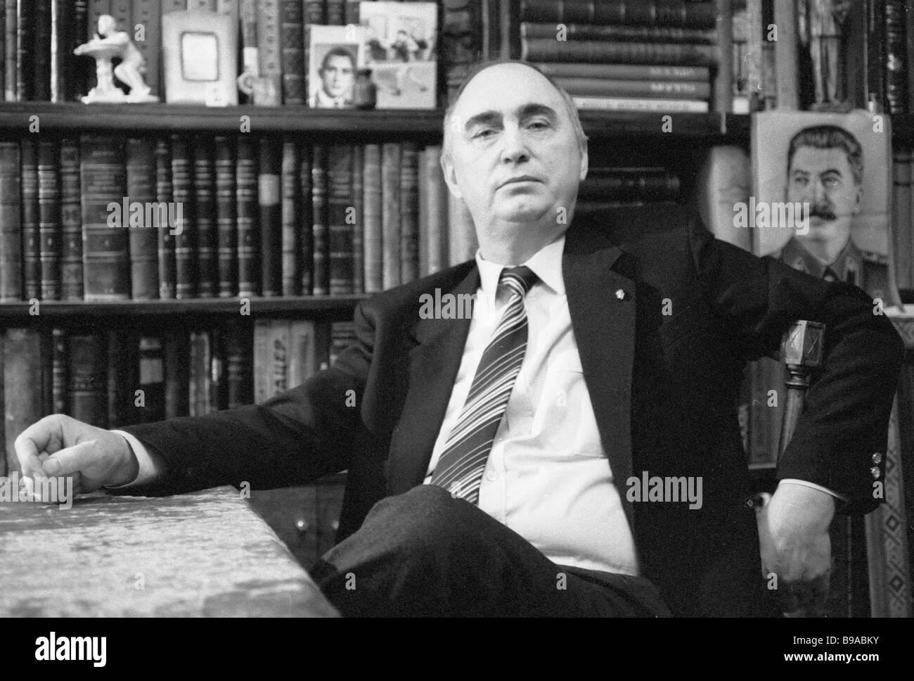Writer and journalist Valentin Lavrov - Stock Image