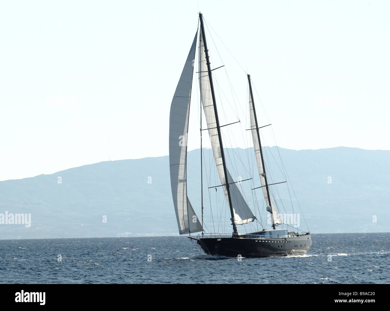 luxury sail boat - Stock Image