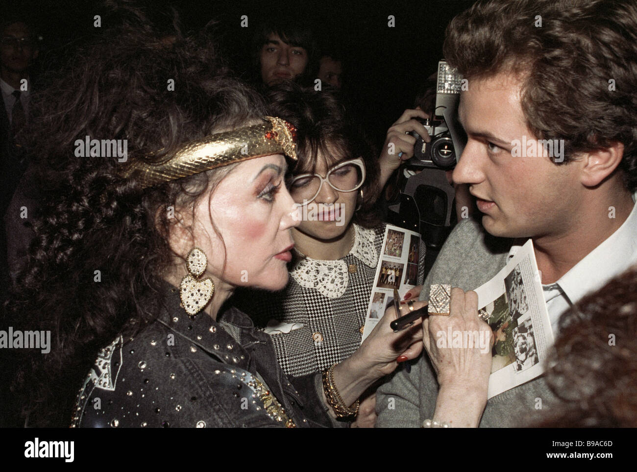 Jacqueline Stallone left mother of the famous actor Sylvester Stallone and one of the Stallone Rockets show initiators - Stock Image
