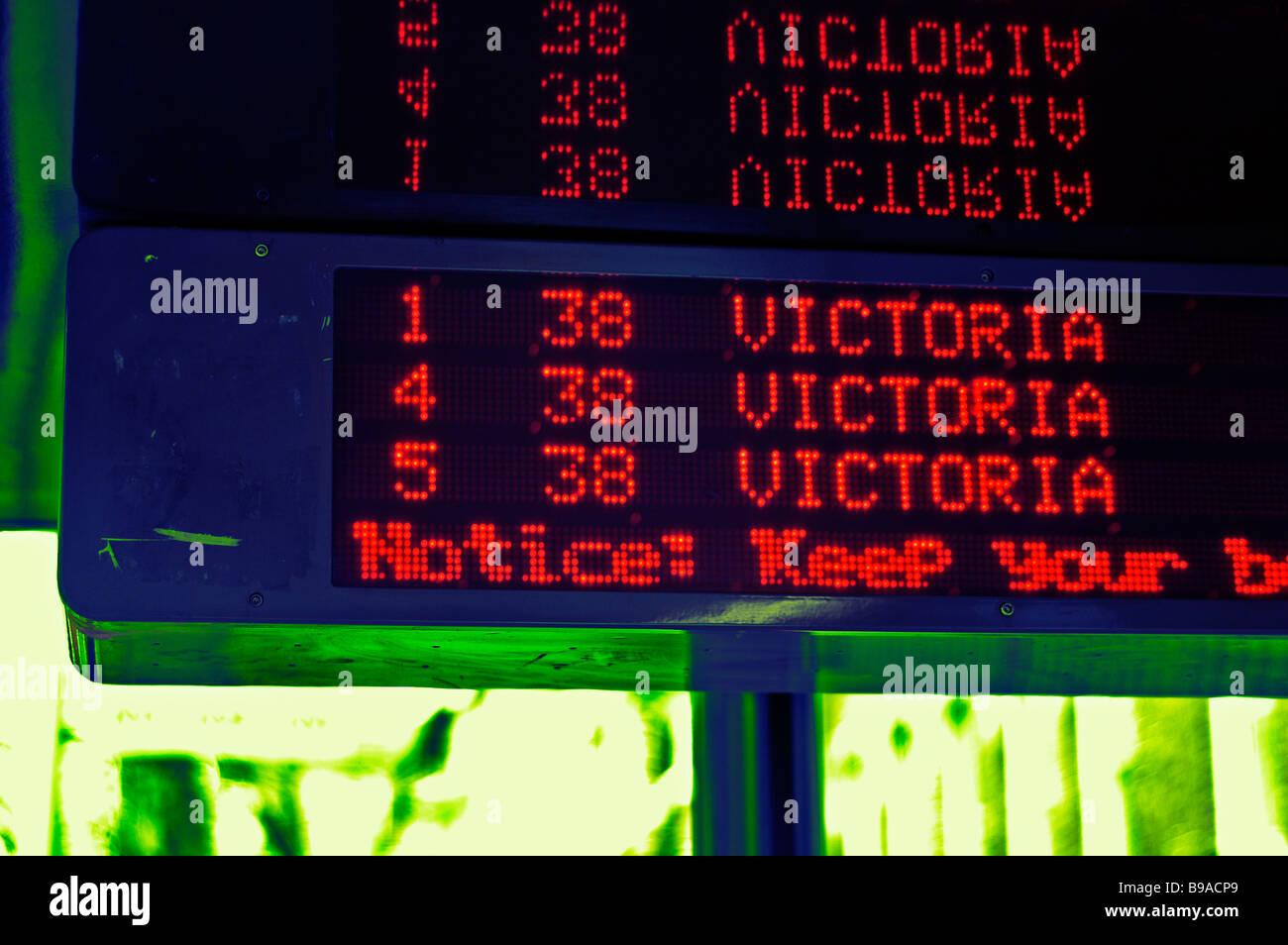 Dot Matrix Sign Stock Photos & Dot Matrix Sign Stock Images
