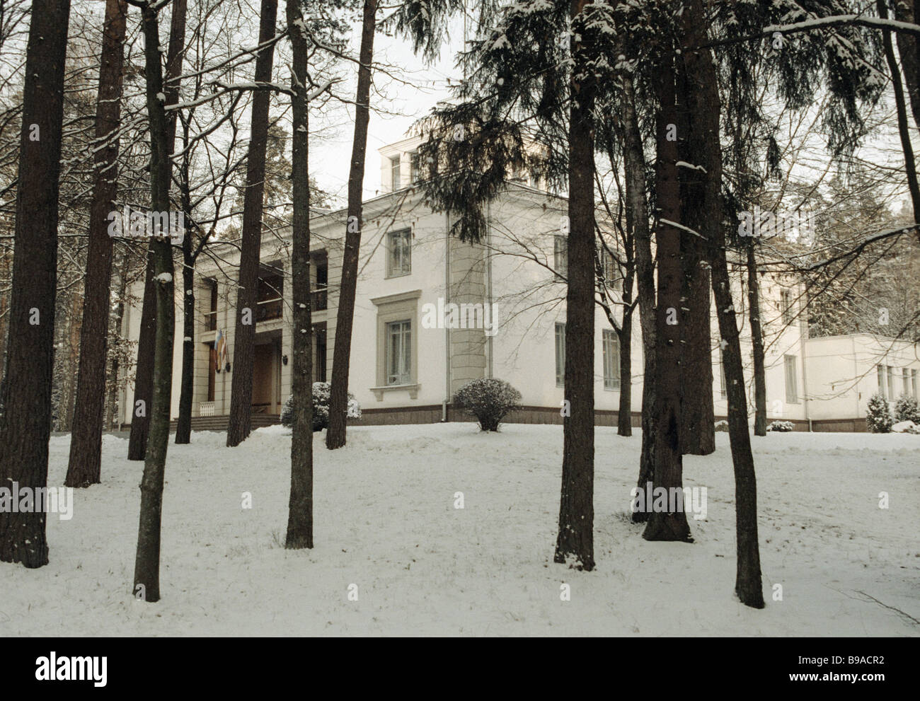 Documents on establishing the CIS were signed here Belovezhskaya Pushcha Viskuli December 8 1991 - Stock Image
