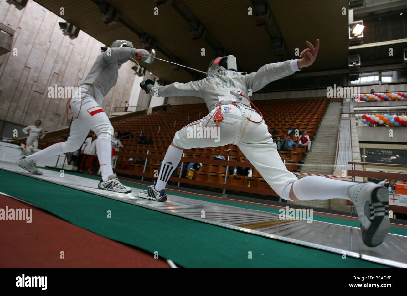 International fencing tournament Moscow Saber 2006 - Stock Image