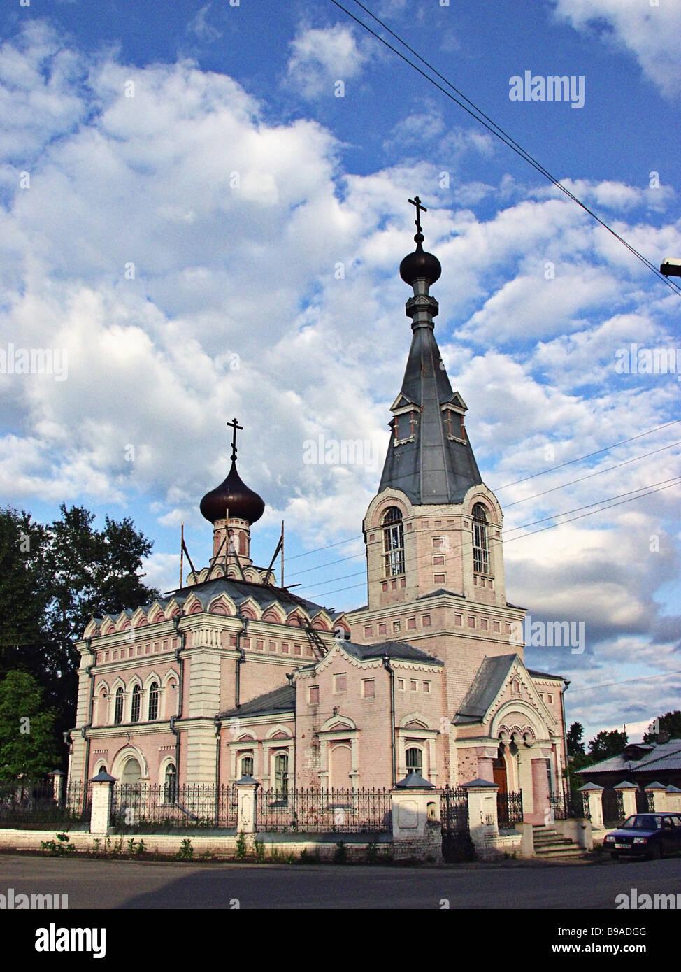 All Saints Church in Semyonov town in the Nizhny Novgorod Region - Stock Image