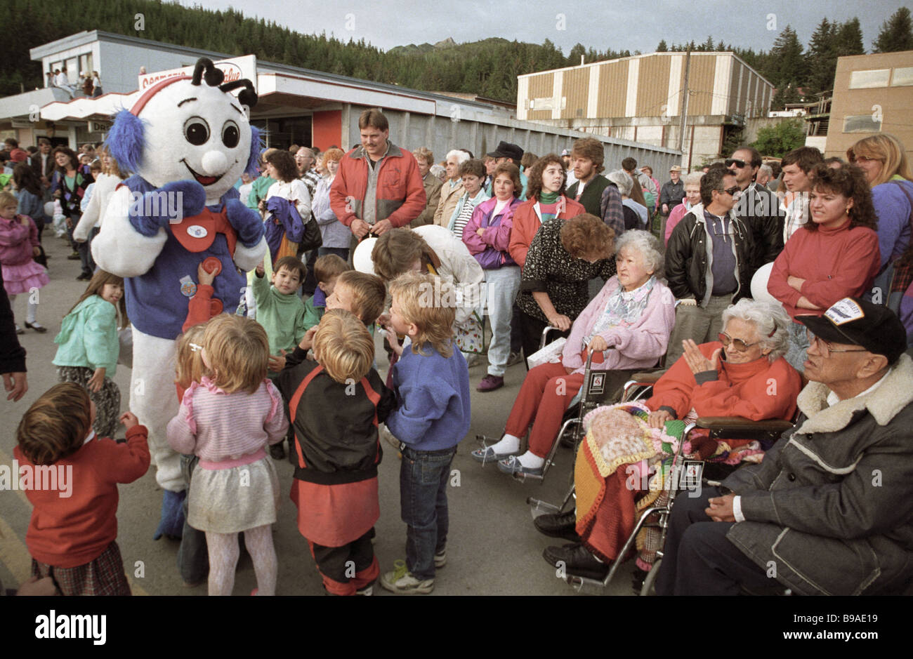 Festivities in Kordov USA dedicated to the 250th anniversary of The Russian America - Stock Image