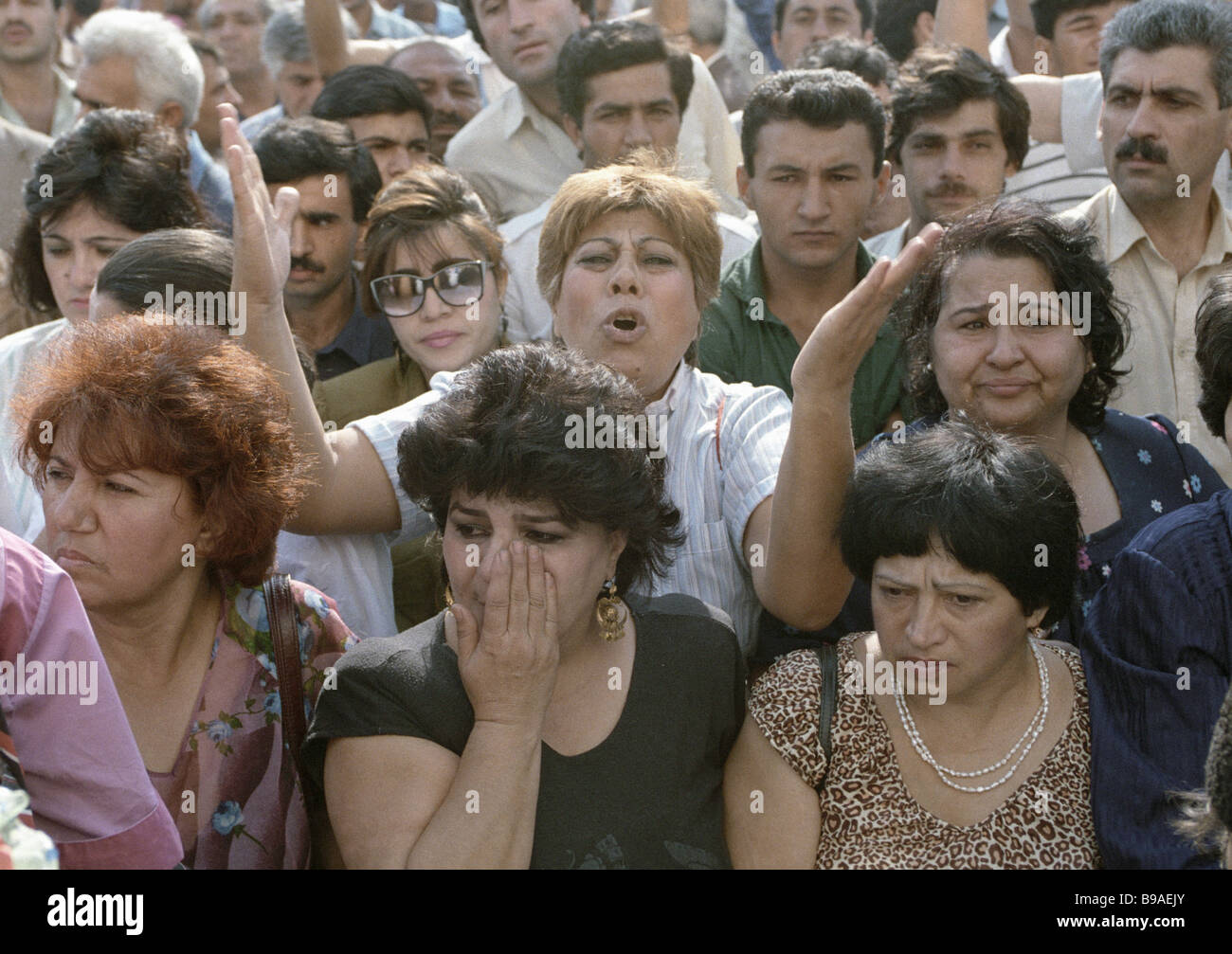 Baku rally at a time of the Karabakh conflict - Stock Image