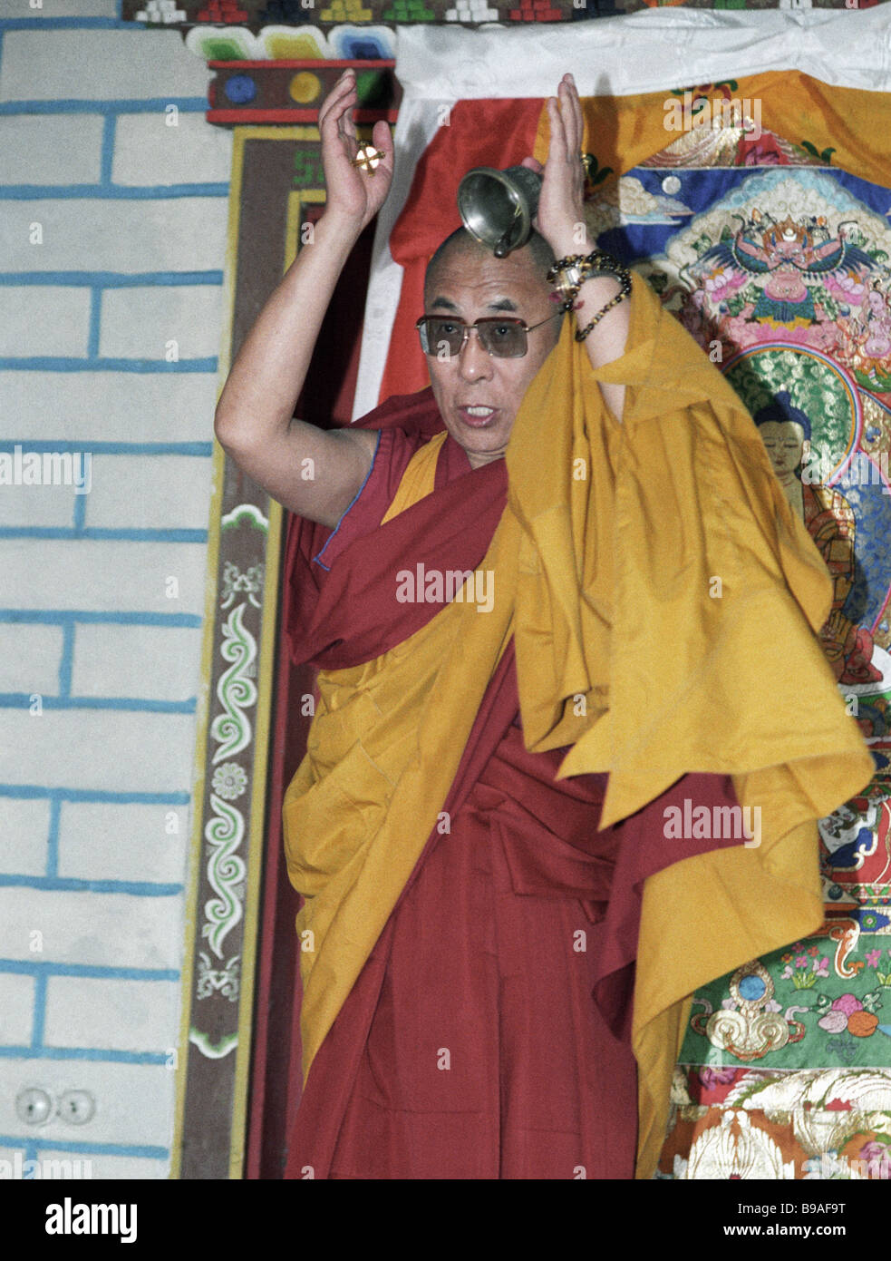 His Holiness the Dalai Lama XIV at a gala in honor of the 250th anniversary of Russia s official recognition of - Stock Image