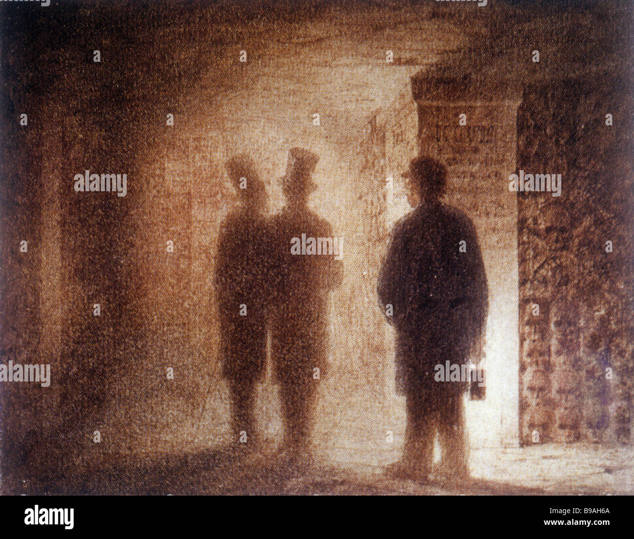 Victor Hartmann 1834 1873 Catacombs Sepia - Stock Image