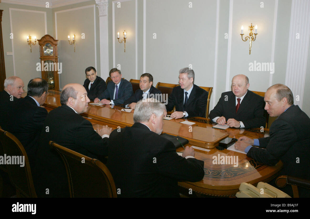 Russia s Security Council permanent members hold conference in Novo Ogarevo presidential residence near Moscow - Stock Image
