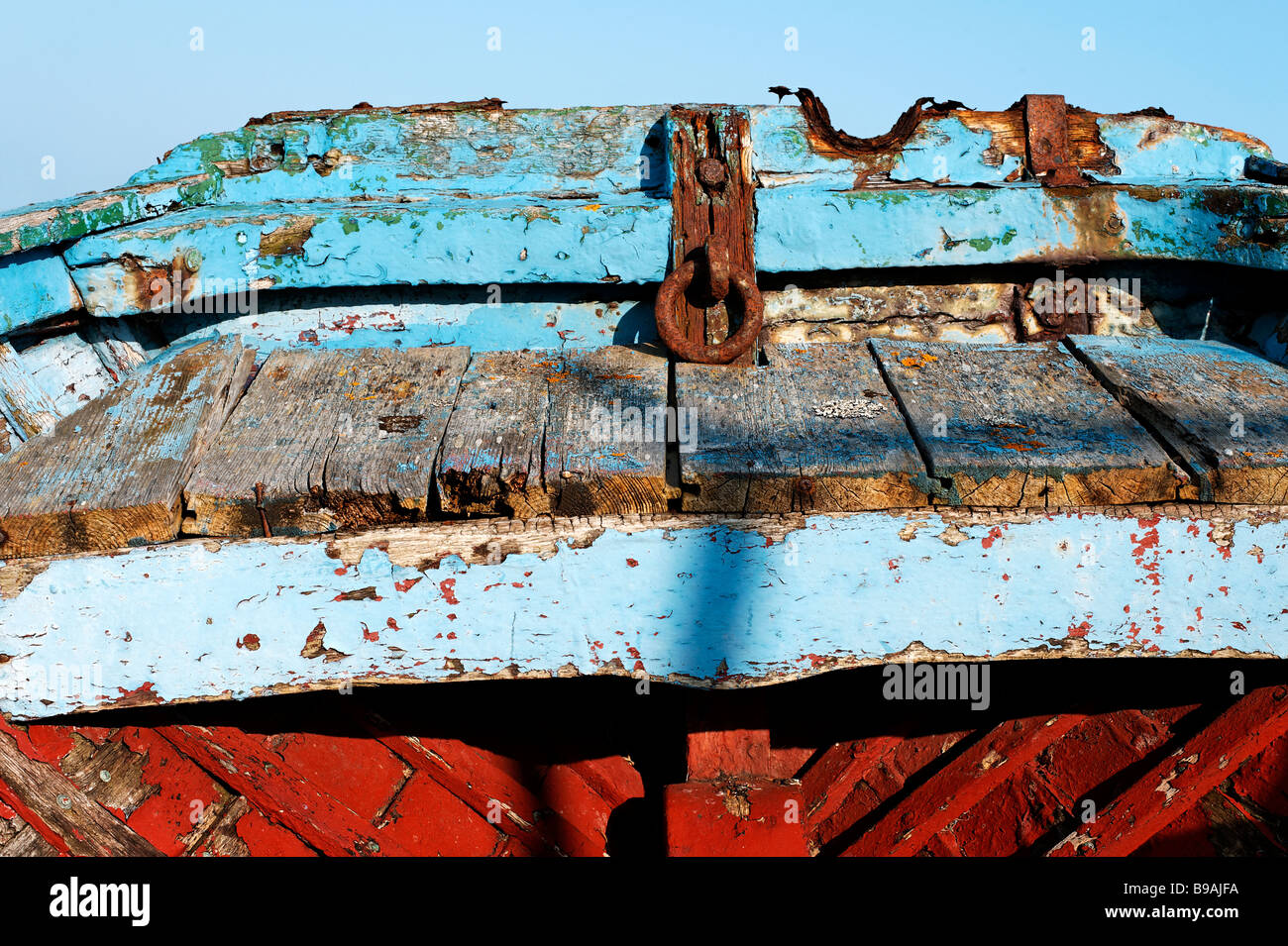 Close up of old wooden boat Stock Photo