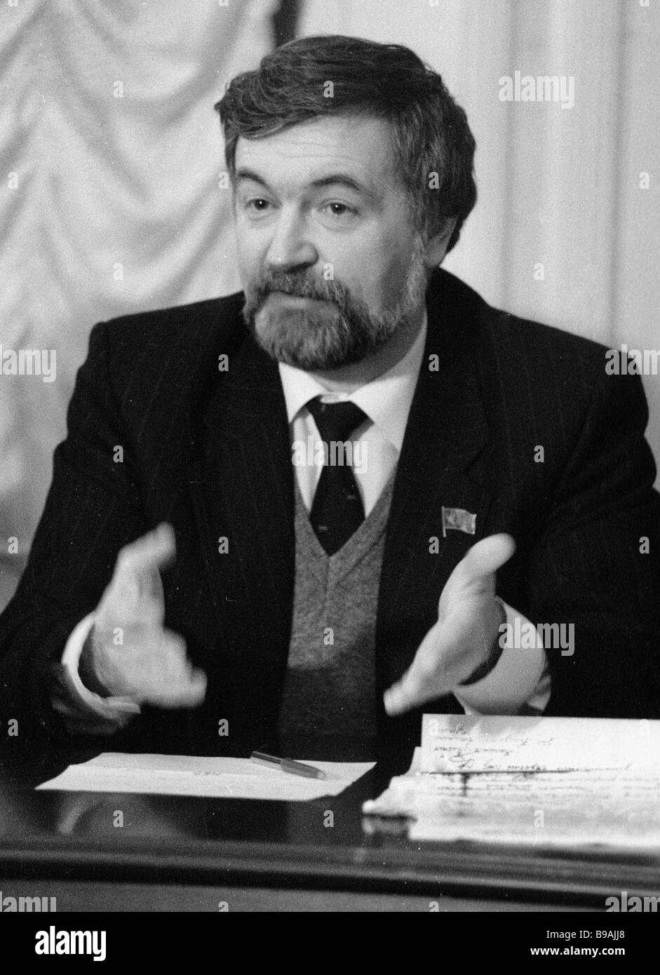 Chairman of the Russian Constitutional Democratic Party Mikhail Astafyev - Stock Image