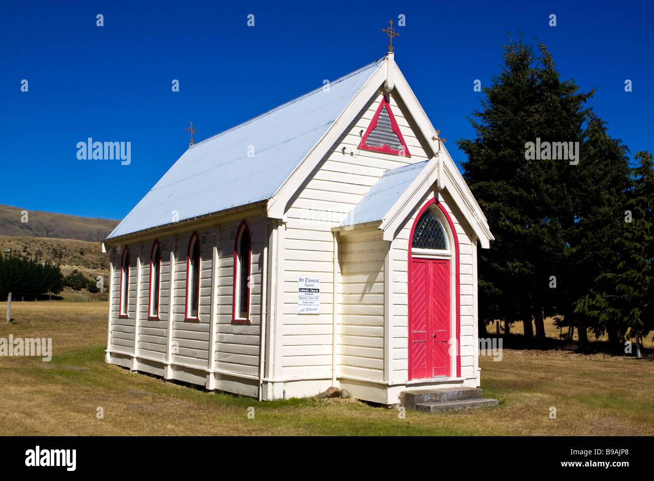 Church at Garston New Zealand - Stock Image