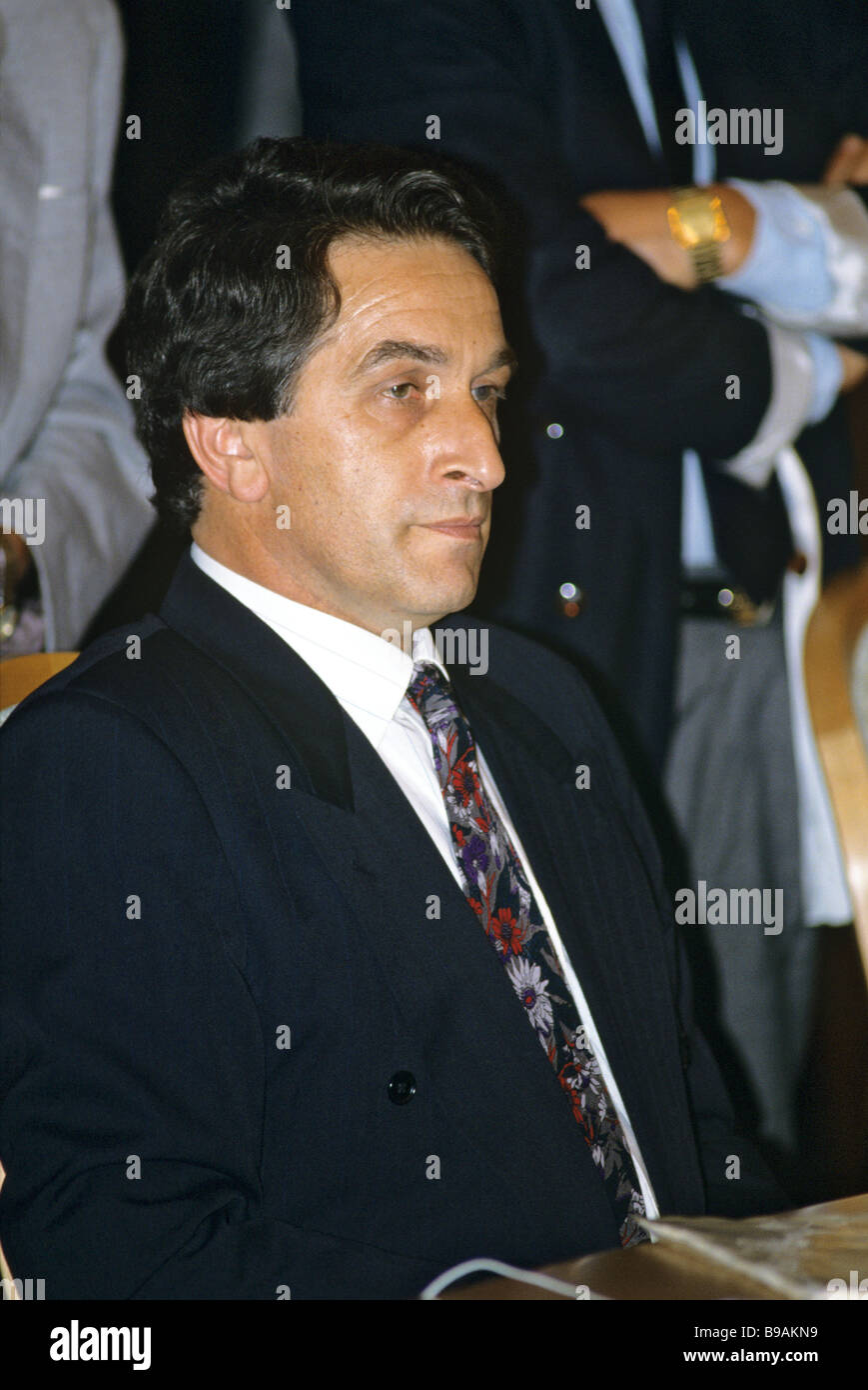 Vladislav Ardzinba Speaker of the Abkhaz Supreme Council Stock Photo