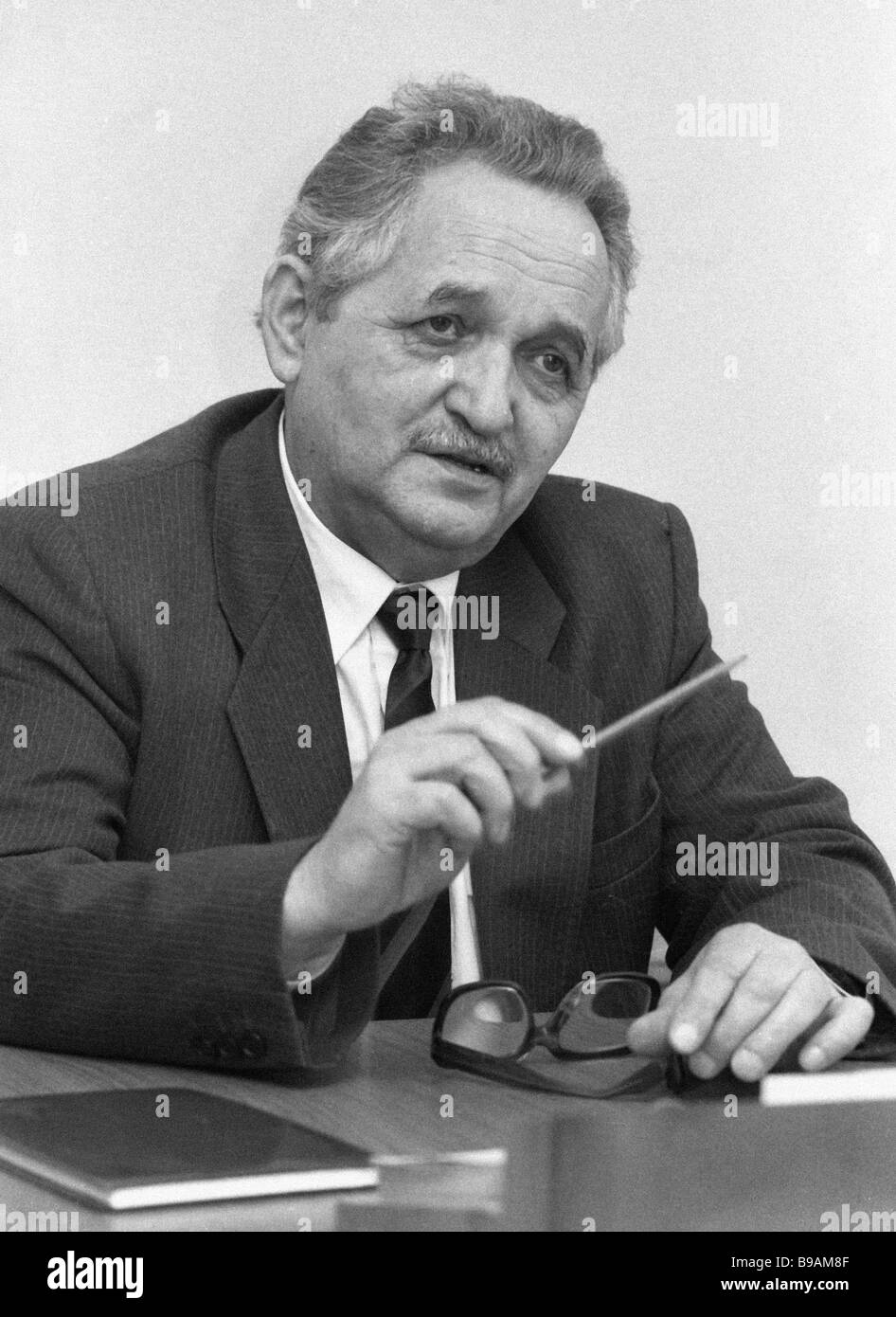 Vice president of the Foreign Intelligence Veterans Association of the USSR KGB Privalov - Stock Image