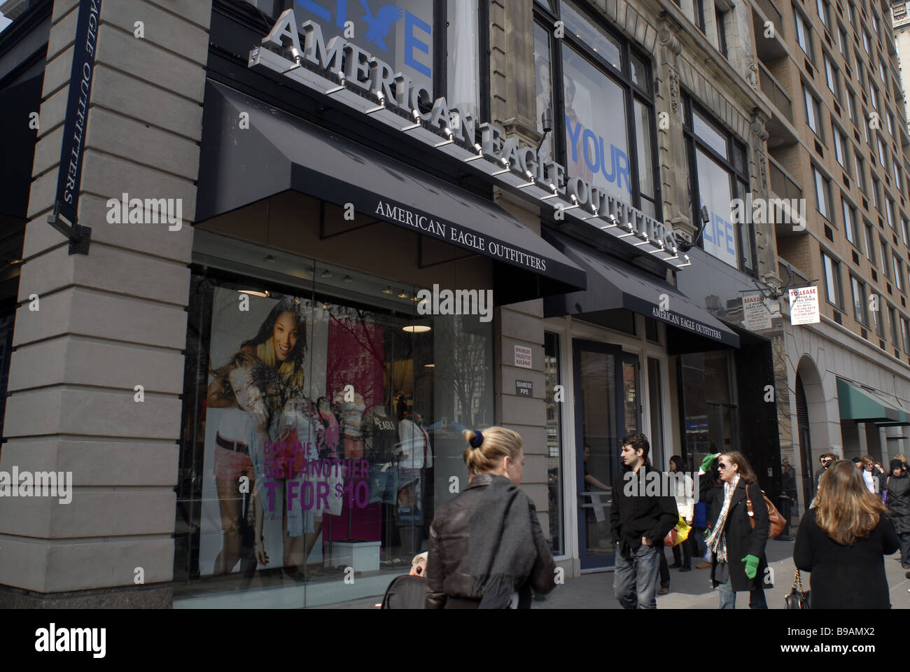 afab533d82b An American Eagle Outfitters store in Union Square in New York - Stock Image