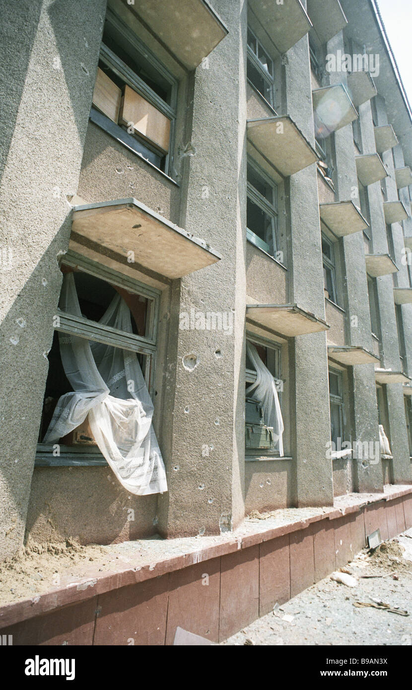 A demolished house in Bendery - Stock Image