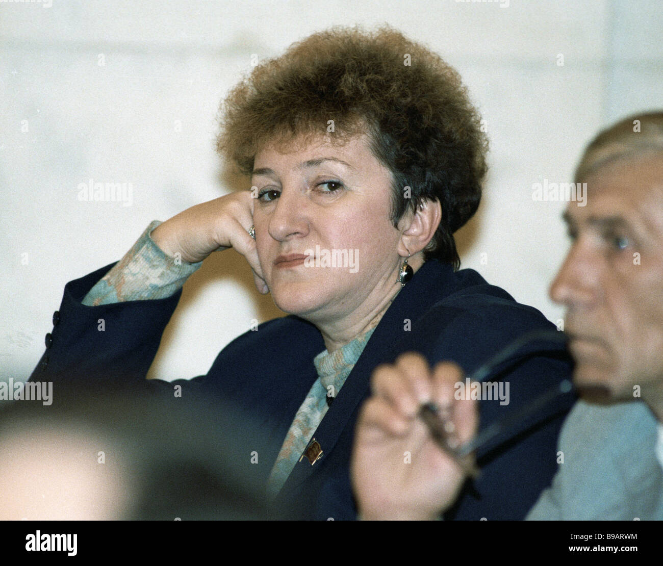 Russian MP Galina Starovoytova left - Stock Image