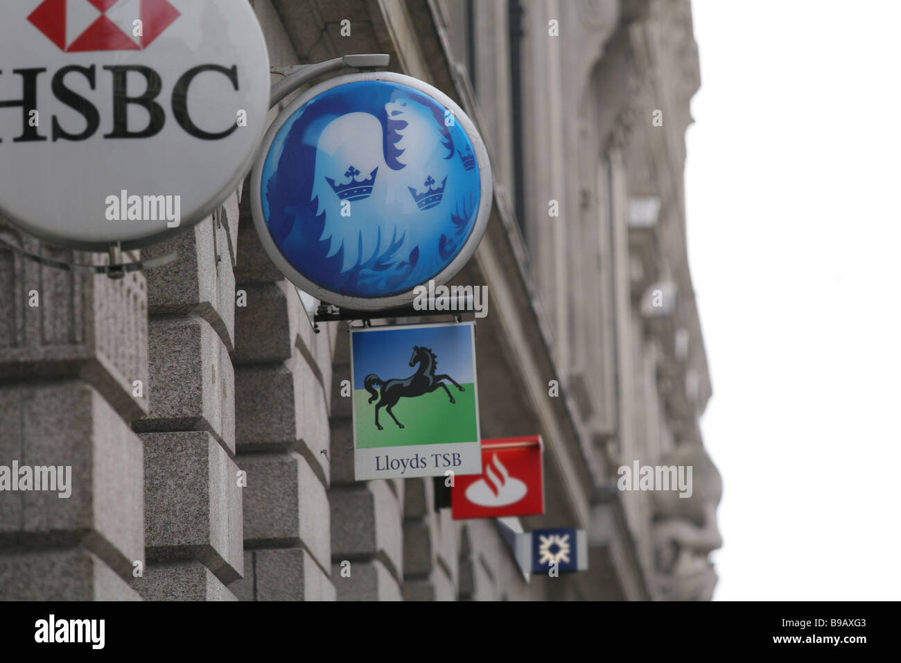 Bank signs, City of London - Stock Image