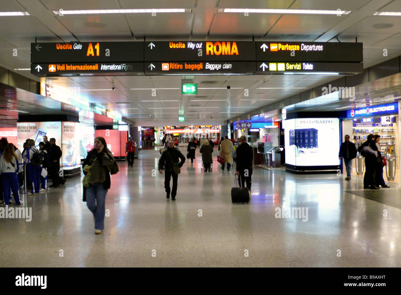 Airport Rome Fiumicino - Stock Image