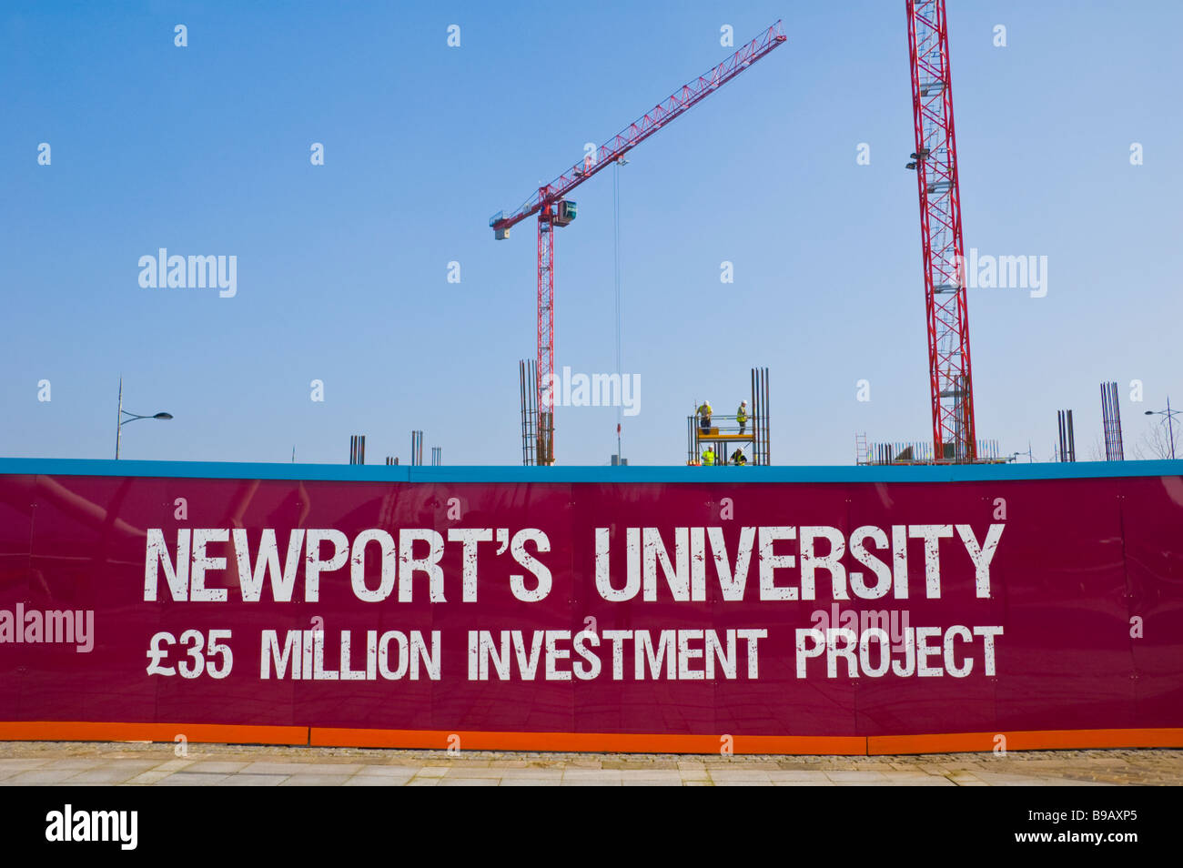 Site of new university campus on the waterfront in centre of Newport South Wales UK - Stock Image