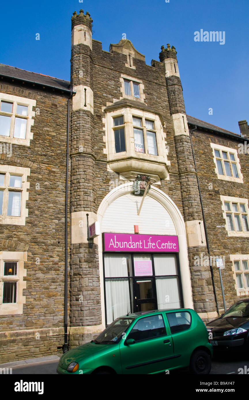 Abundant Life Centre church in Victorian building Newport South Wales UK - Stock Image