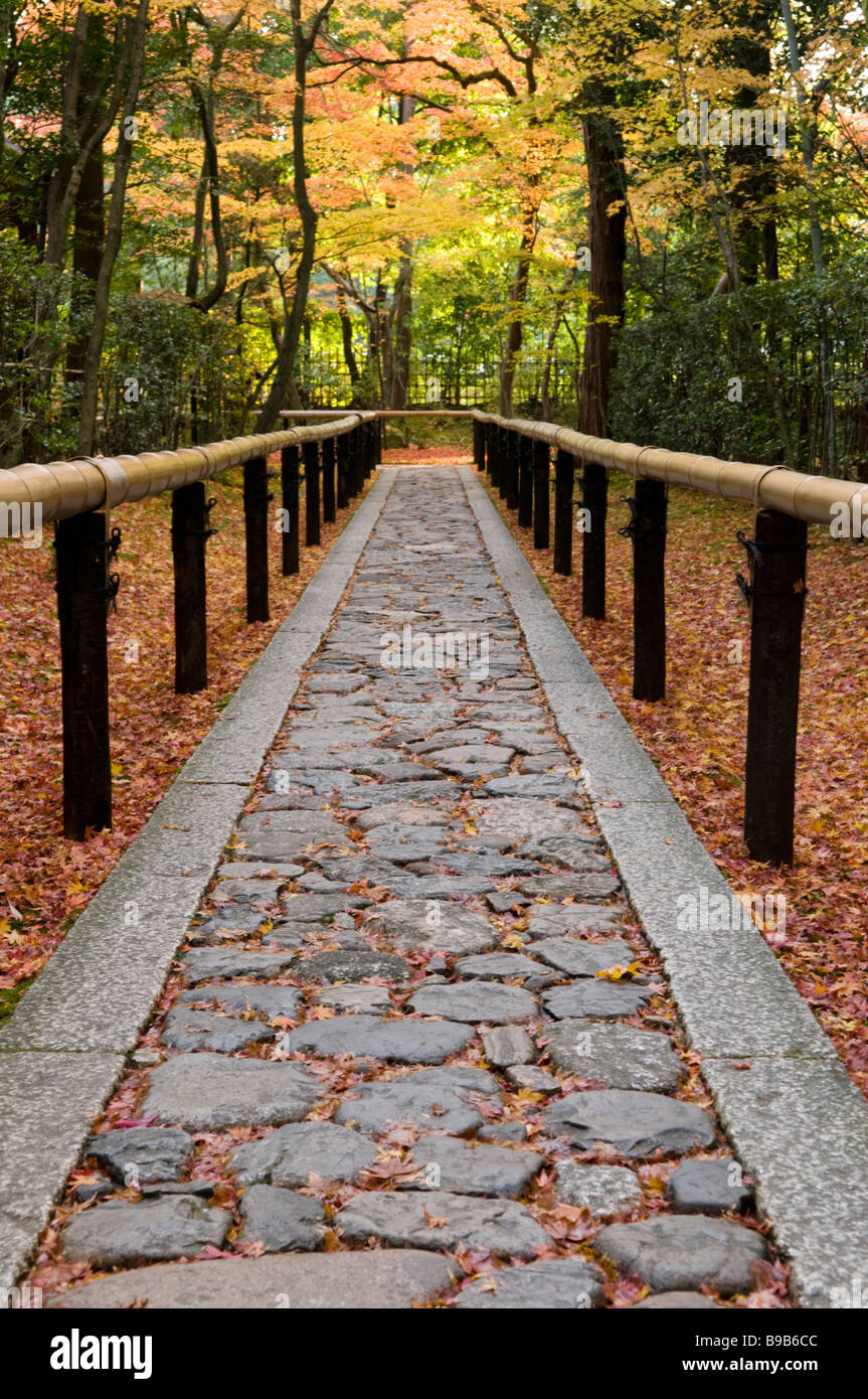 Path to a zen garden at Daitokuji Kyoto Japan Stock Photo