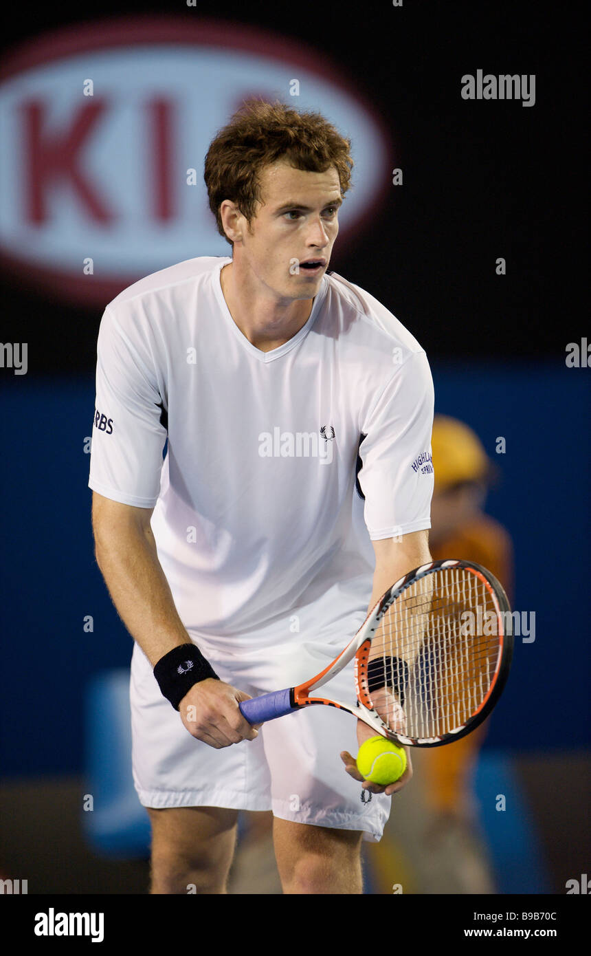 David Lloyd's tennis player Andy Murray of Britain during the Australian Open Grand Slam 2009 in Melbourne - Stock Image