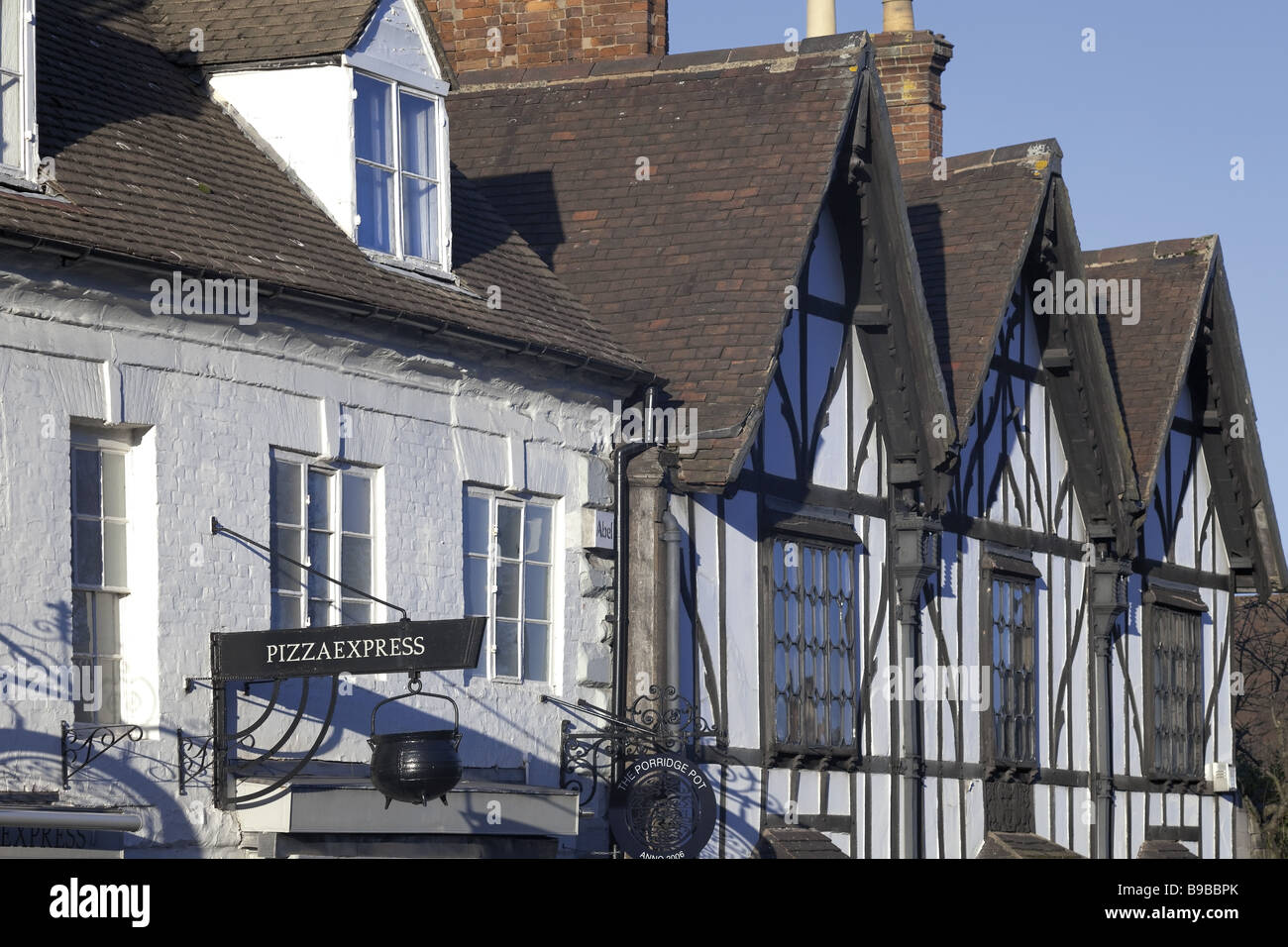 Old buildings in Warwick Stock Photo