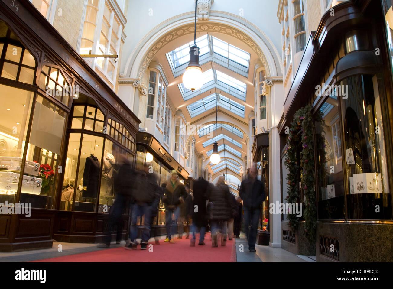 Burlington Arcade, Piccadilly, London, England UK - Stock Image
