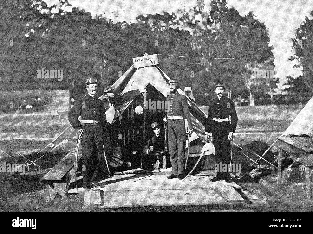 Southerners at Shiloh - Stock Image