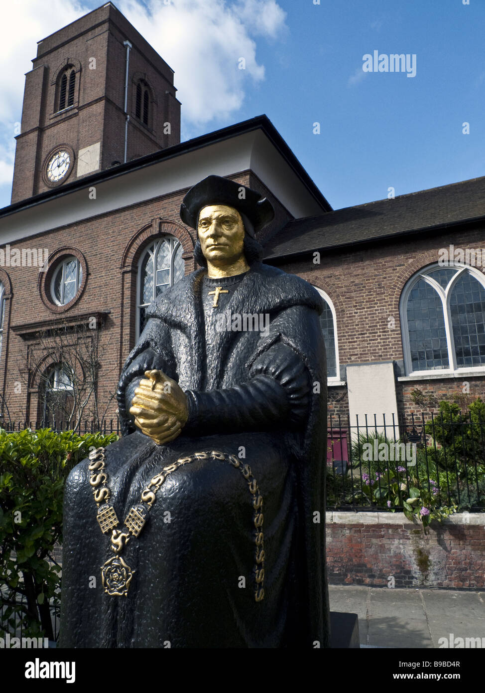 Statue of Sir Thomas More, Chelsea - Stock Image