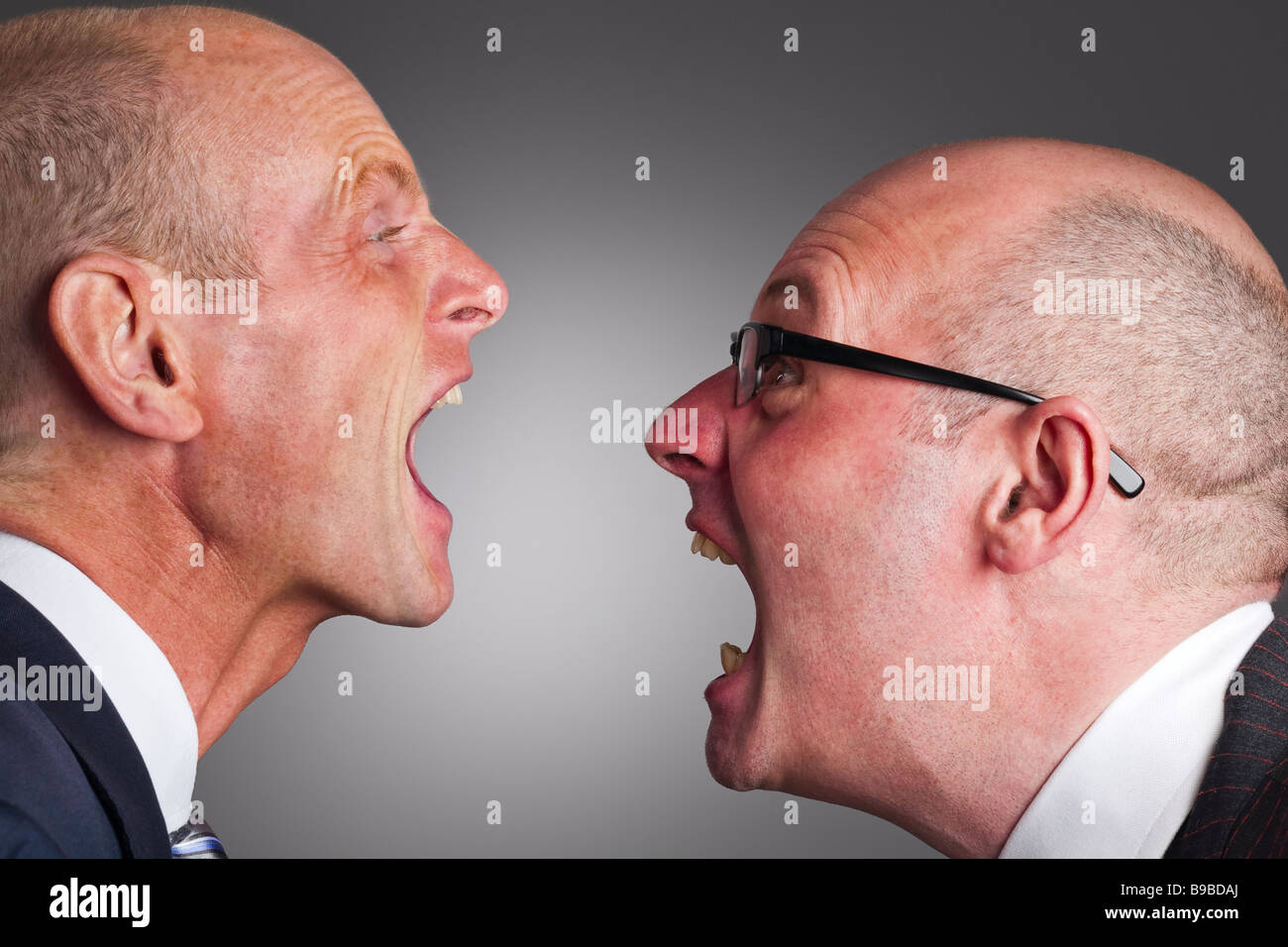 Two businessmen having an argument - Stock Image
