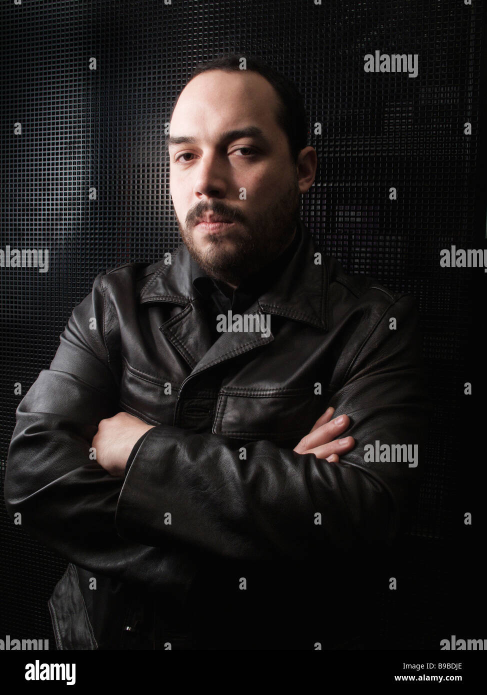 Portrait of mexican man - Stock Image