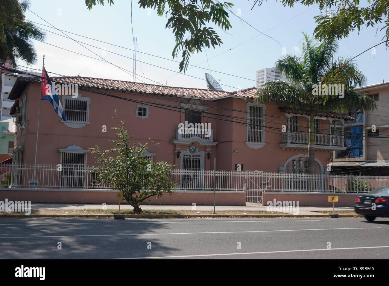 Cuban Embassy. Panama City, Republic of Panama, Central America Stock Photo