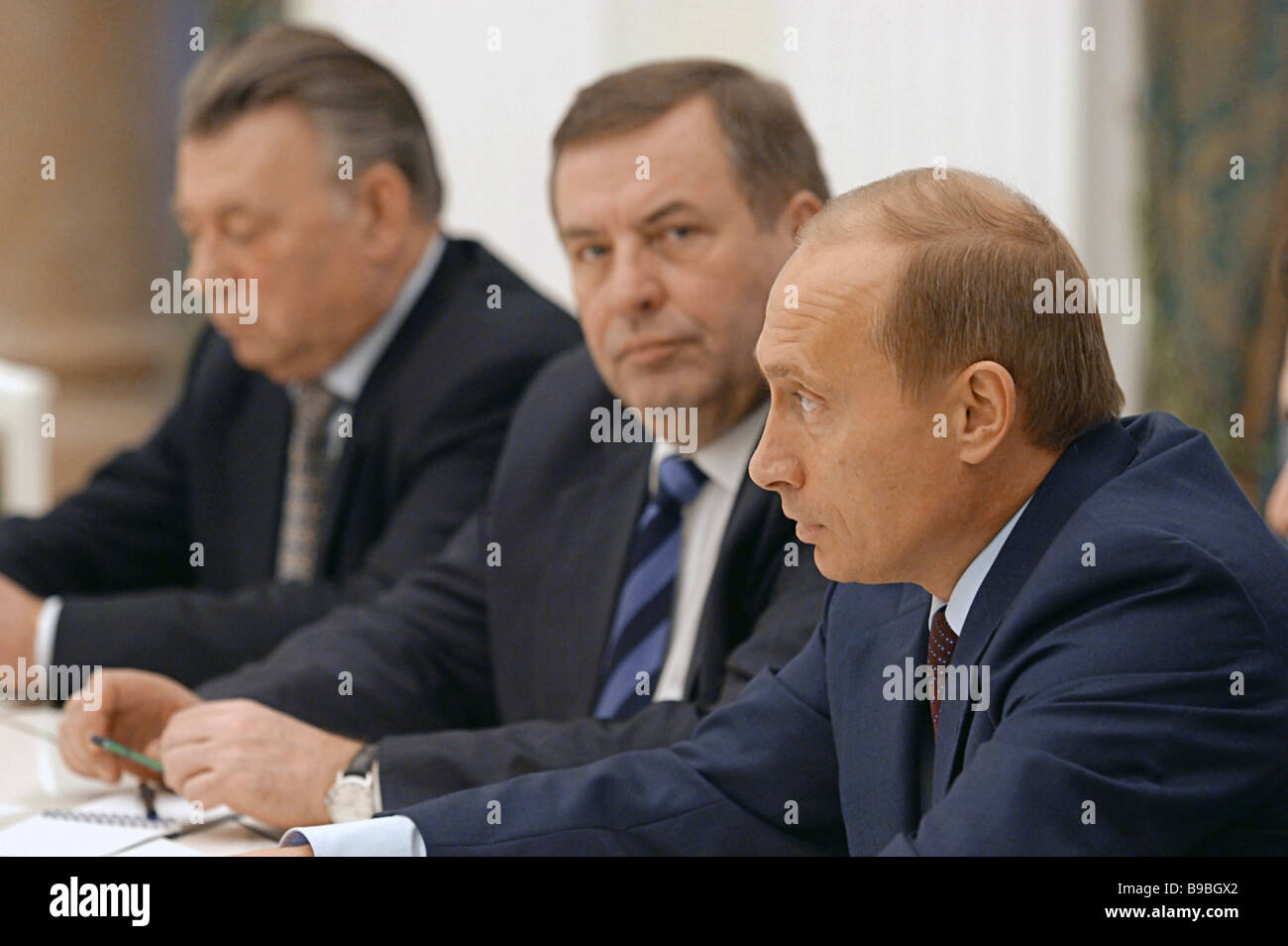 Russian President Vladimir Putin First Right Meets The Leaders Of The Stock Photo Alamy