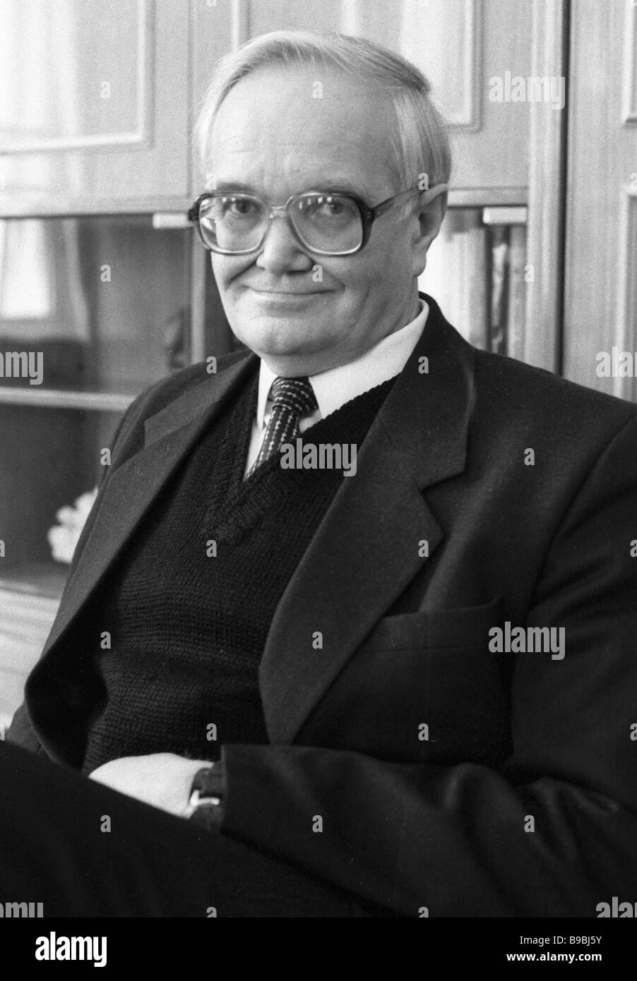 Head of Institute of Philosophy of the USSR Academy of Sciences Vyacheslav Stepin - Stock Image