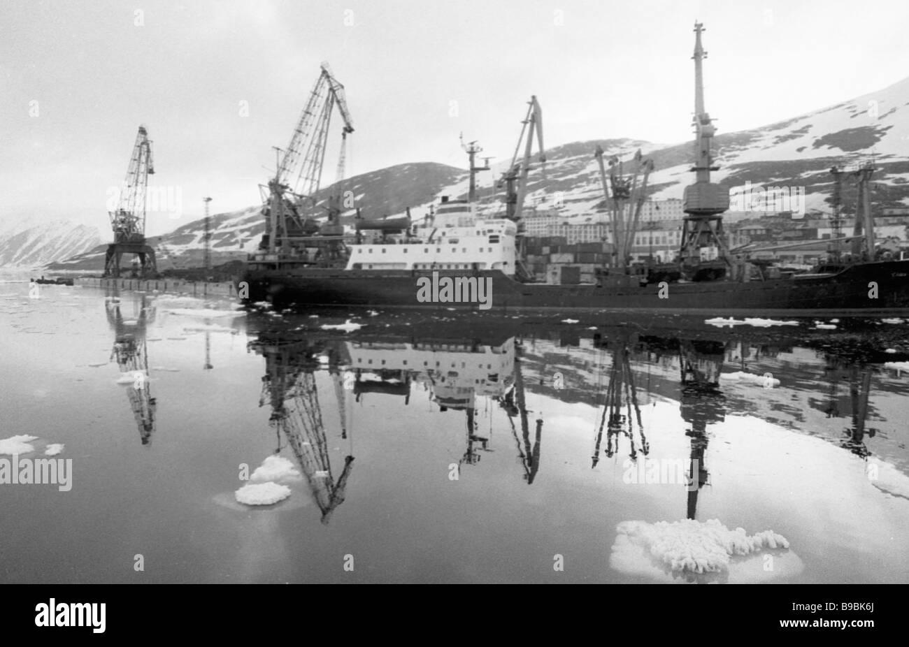 Vessels in Providence Bay - Stock Image