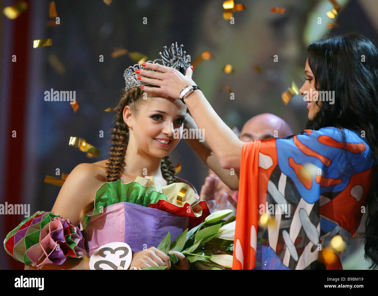 Muscovite Alexandra Mazur 19 wins the Russian Beauty 2006 contest - Stock Image