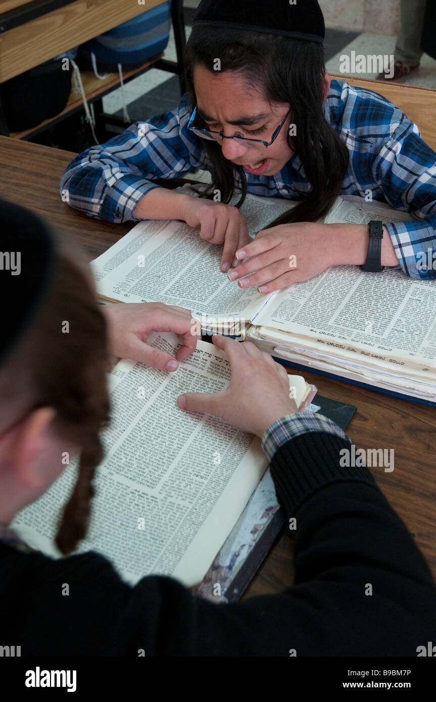 Israel Bnei Brak Satmer Orthodox Jewish Community Education institutions Talmud Thora - Stock Image