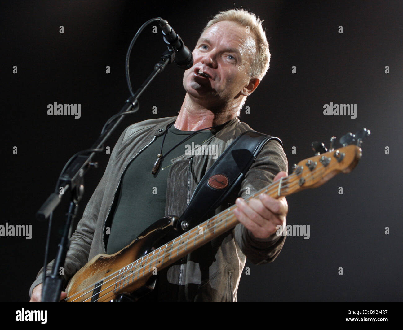 British musician Sting performing at the Olimpiisky Sports Complex - Stock Image