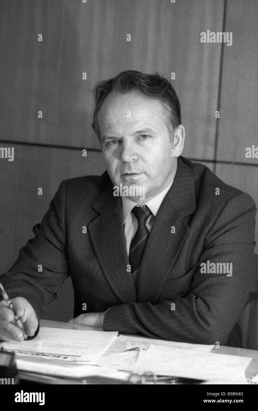 Vladimir Desyatirik CEO of the Mosfilm studio Stock Photo