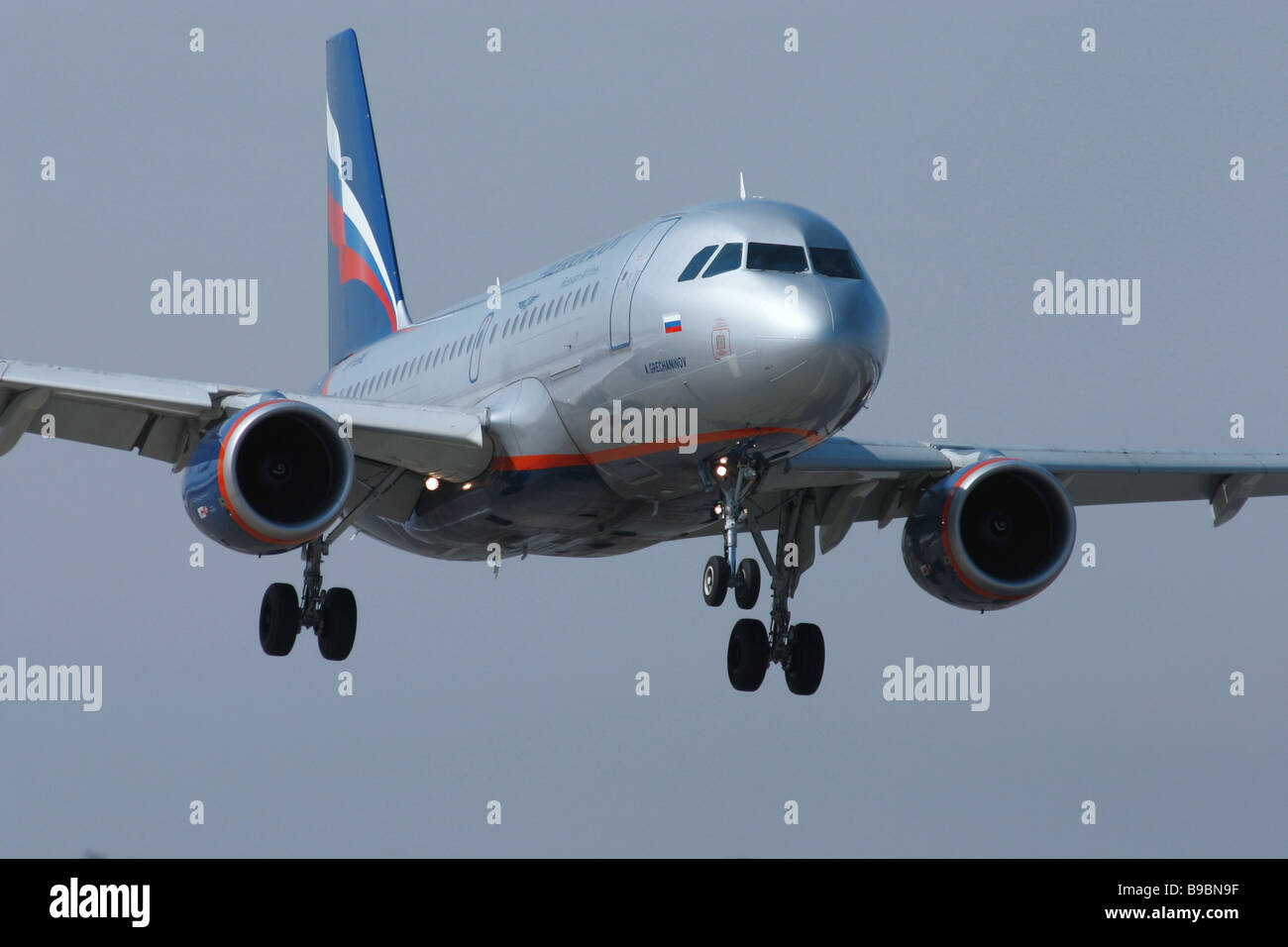 An Aeroflot Airlines Airbus A320 passenger airliner - Stock Image