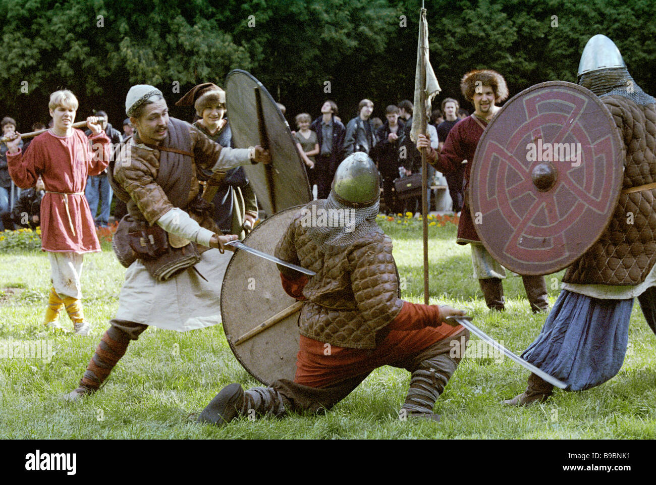 Popular games and competitions during City Day celebrations - Stock Image