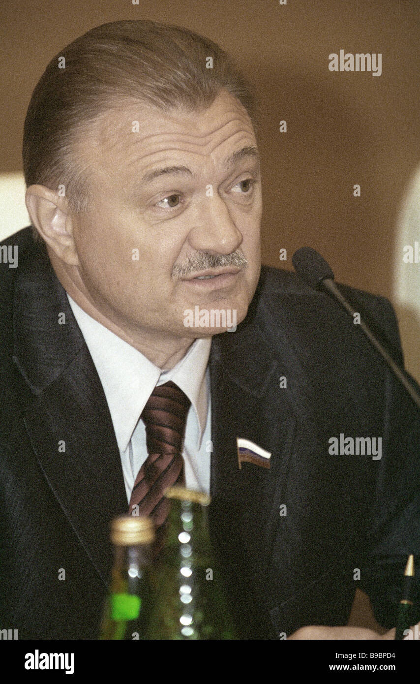 Oleg Kovalev chairman of the committee on regulations and work organization of the Russian State Duma - Stock Image