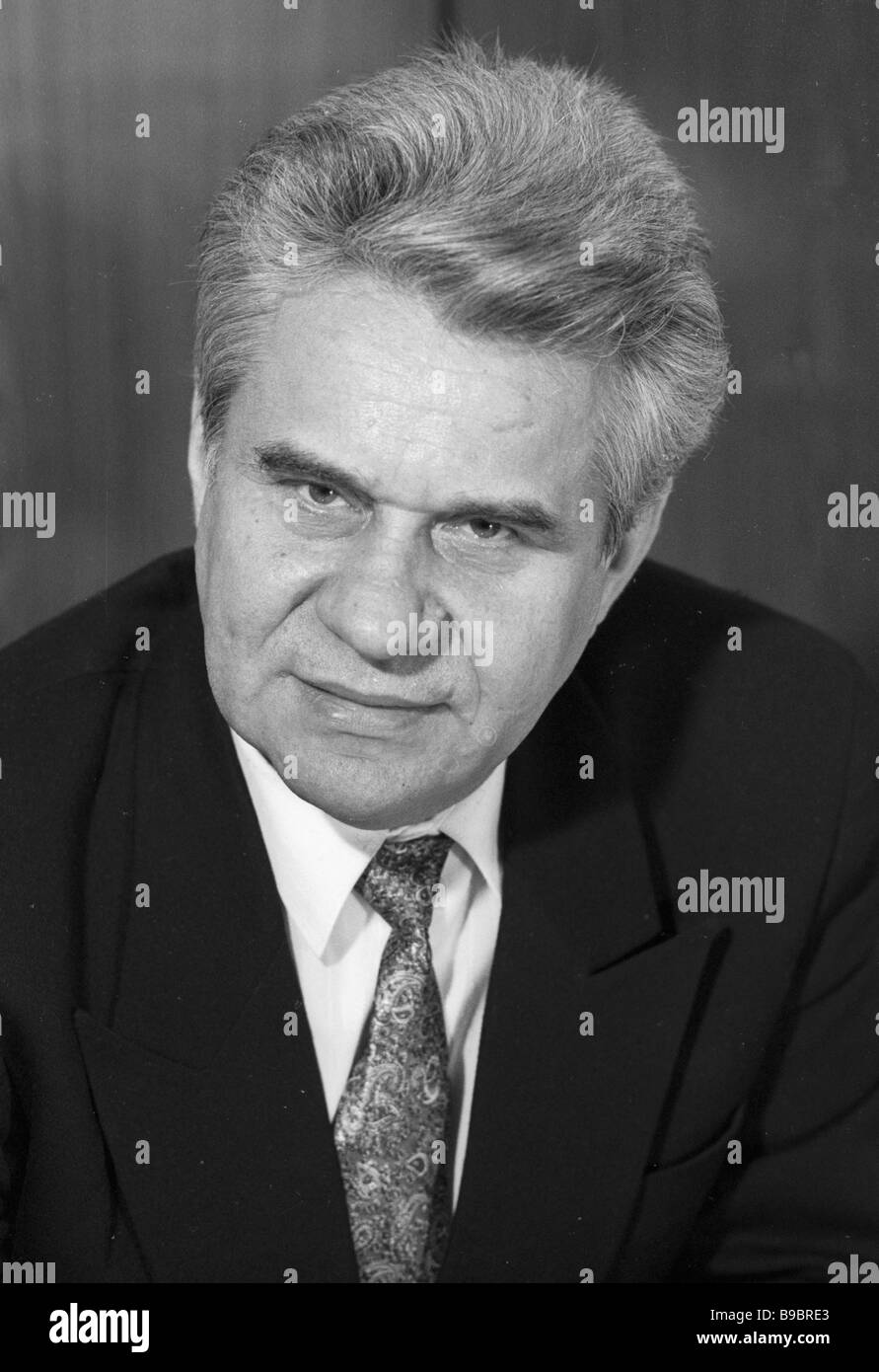 Chairman of Federal Geodesy and Cartography Service Nikolai Zhdanov - Stock Image