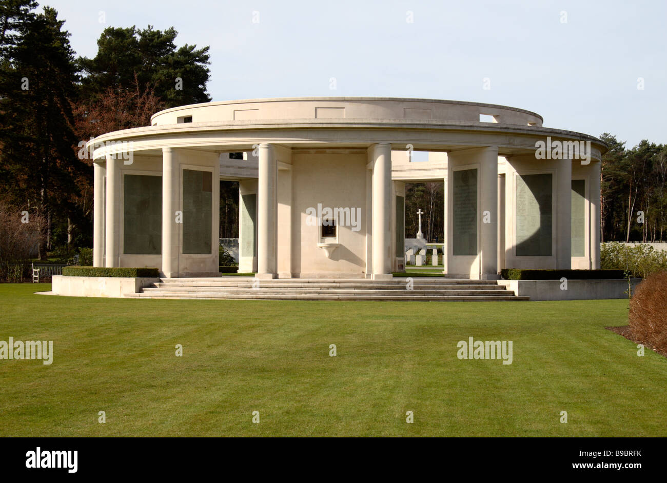 The Brookwood Memorial to the Missing, in the Brookwood Military Cemetery, Woking. - Stock Image